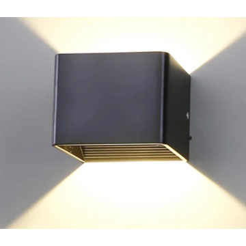 Lámpara de pared interior LED de 5W negro para hotel
