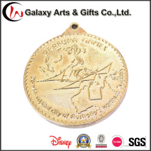 Пользовательские монеты медаль с металлическим покрытием золото полированная латунь