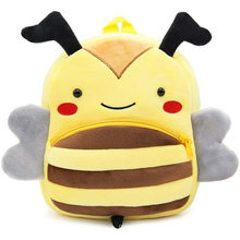 Mochila de pelúcia em 3D Animal Cartoon Honeybee