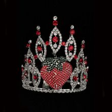 Tiara de fresa Rhinestone por mayor Pageant Crown