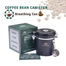 16oz Stainless Steel Coffee Bean Jar