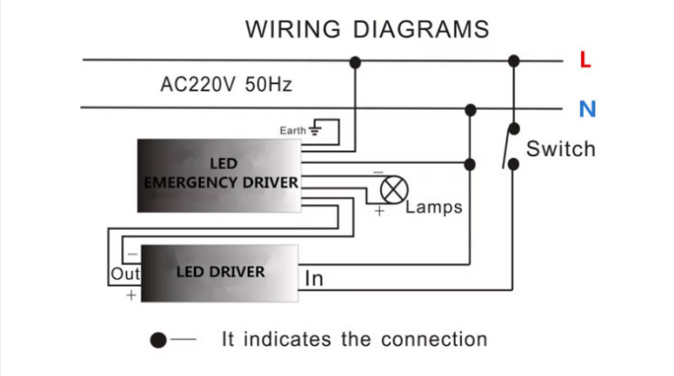 led emergency backup power wiring diagram
