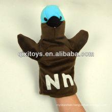 soft plush bird animal hand puppet