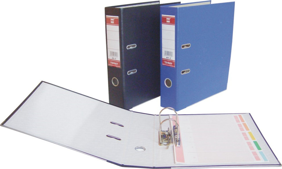A4 ring binder on office desk