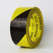 Striped Hazard Underground Floor Line Marking Yellow Black PVC Marking Warning Tape For Caution