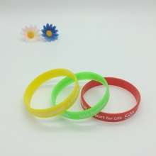 Logo Printing Custom Promotion Recycled Silicone Wristband