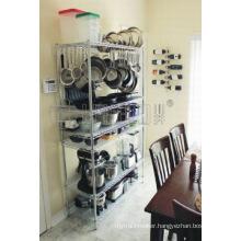 NSF Adjustable Stainless Steel Kitchen Utensil Storage Rack (CJ12045180A6C)