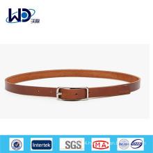 2014 Ladies skinny brown leather belts