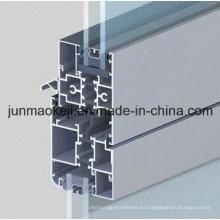 Perfil de ventana de aluminio con rotura de puente térmico