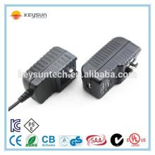 12w 24v 500ma eu uk au us plug adaptador de energia mutável