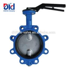 Type de valve de papillon de plein de cosse de fer de fonte de bague de siège de prix de Kitz de 4 pouces application dans l'industrie