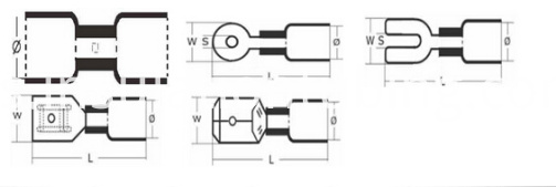 Waterproof Heat Shrink Connectors Kit Product Drawing