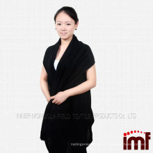 Women hooded adult towelling poncho knit cashmere poncho