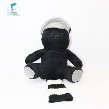 Personalização multifuncional Fantoche de urso preto de desenho animado