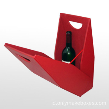 Wine Gift Boxes dengan Cut Out Handle