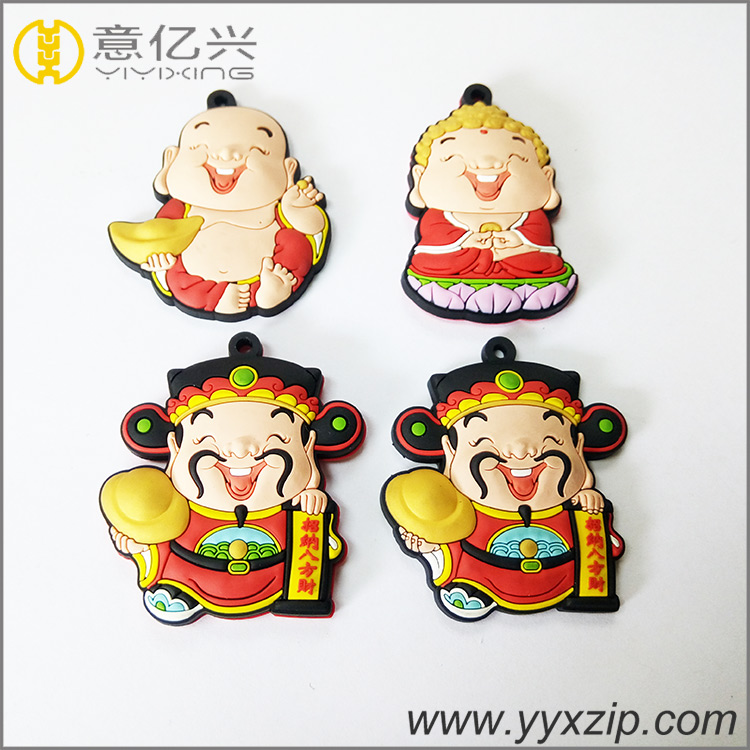 3D Cartoon Shape Rubber Label