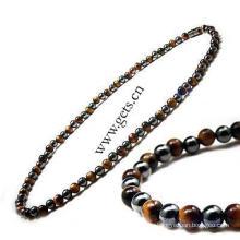 Gets.com 2015 магнитный гематит подлинной антикварной латунь ожерелье