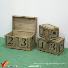 Замок Vintage Деревенский ручной деревянный сундук