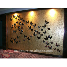 2016 New Stainless Steel Modern Relief Wall Decoration For Hotel Decoration