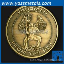 custom metal frogman challenge coin