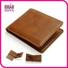 New Luxury Mens Brand Wallet Genuine Leather Boutique Trifold Zip Coins Purse