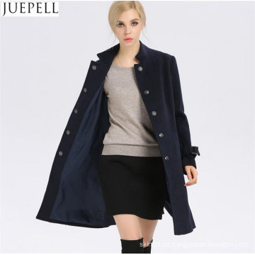 Neue Frauen Herbst und Winter Wollmantel Frauen Windbreaker und lange Abschnitte Schlank Woolen Kragen Frauen Mantel