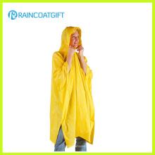 Делюкс желтый ПВХ дождь пончо