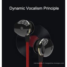 écouteurs filaires avec microphone