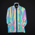 High Visibility color changing rainbow reflective jackets