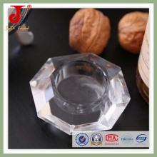 15cm Oct Tea Light Glass Candlestick (JD-CH-020)