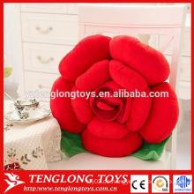 Schöne Frauen Geschenk Plüsch rot Rose geformte Kissen zum Verkauf