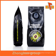 Venda quente preto Gavure Matt impressão lado Gusset café embalagem saco