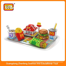 LOZ New food style diy Assembly Block Toy