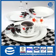 20pcs round luxury ceramic dinner set manufatures ceramic dinnerware hong kong