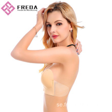 Plus Storlek Deep U Plunge Sticky Backless Bra