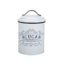 Weißer Kaffee Tee Zucker Kanister Set