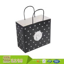 Wholesale High Quality Recycling Custom Printing Kraft Paper Bag Polka Dot For Gift Packing