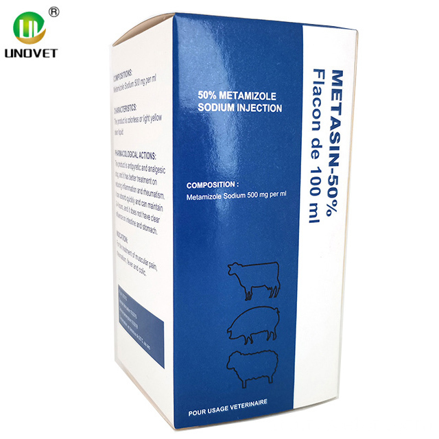 50٪ Metamizole Sodium Injection للطب البيطري