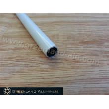Круглая нижняя труба с порошковым покрытием и алюминиевым профилем