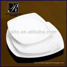 Manufacturer porcelain dinner plate square plate banquet use PT0327