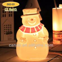 Снеговик Дизайн Керамическая Настольная Лампа Новый Рождественские Украшения Лампы