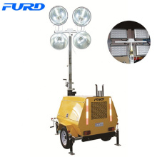 9m Manual High Mast Mobile Light Tower
