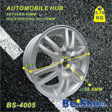 Aluminium Alloy Wheel Hub Rim with Silver Surface