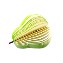 Eco-Friendly Colorful 3D Advertising Note Pad Fruit Shape Memo Pad