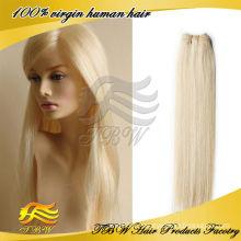 Couleur de cheveux remy vierge brésilienne 613 cheveux blonds armure en gros