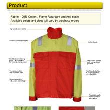 Jaqueta de retardante de chamas de algodão para trabalhadores