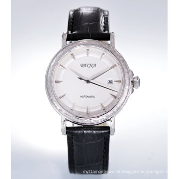 Men′s Automatic Stainless Steel Wrist Watch
