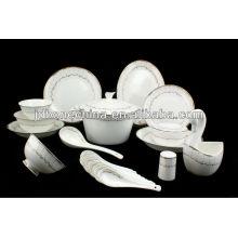 fashionable new simple design fine bone china dinner set espresso bamboo tableware set