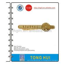 Полицейская ассоциация металлическая галстук-штифт / клип / бар с золотым покрытием