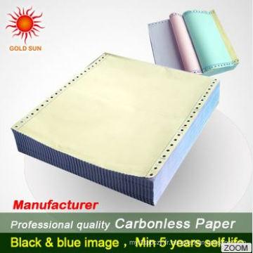 Papier autocopiant pour machine à dactylographier